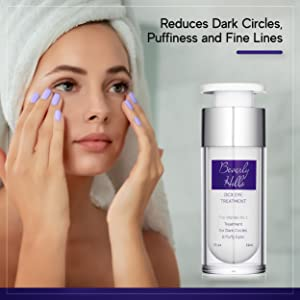 Reduces dark circles, puffiness, and fine lines