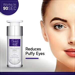 Works in 90 seconds. Reduces puffy eyes.