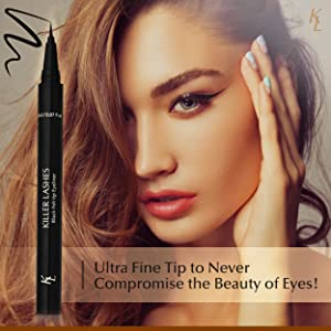 Ultra fine tip to never compromise the beauty of the eyes