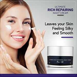 Ultimate rich repairing night cream. Leaves your skin feeling silky and smooth