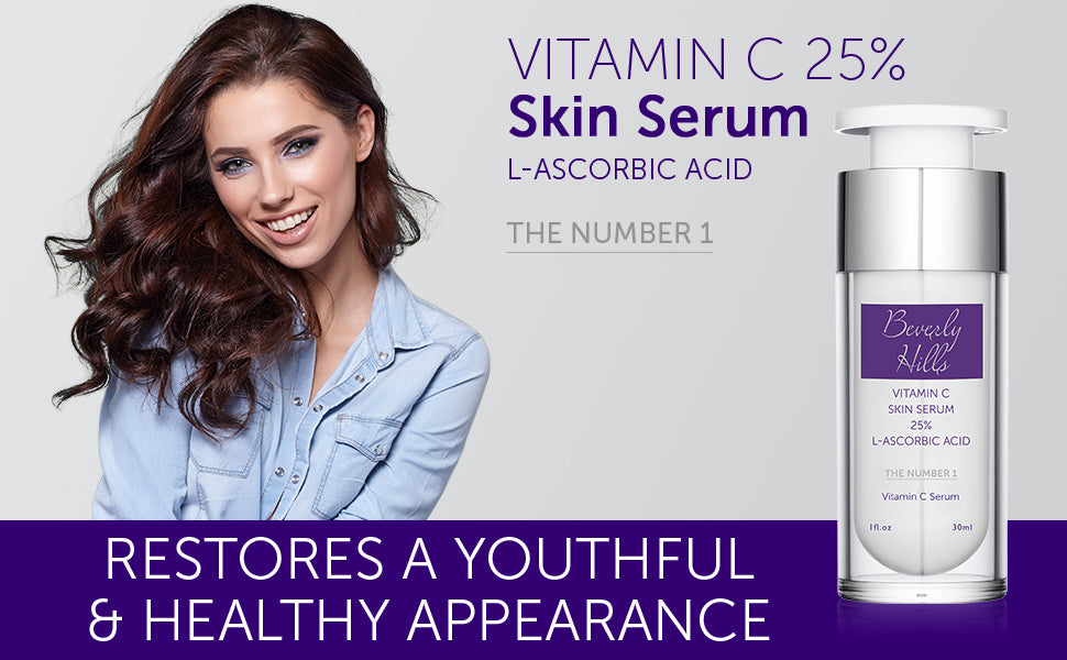 vitamin c 25% skin serum, L-ascorbic acid. The Number 1. Restores a youthful and healthy appearance.