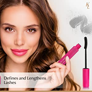 Defines and lengthens lashes