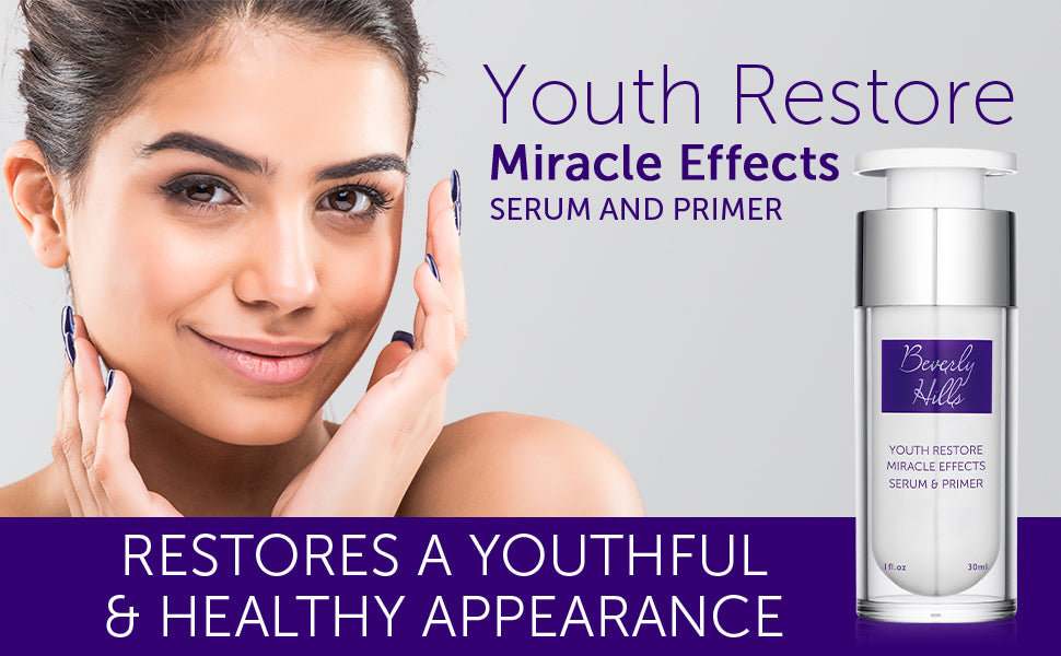 Youth Restore. Miracle effects. Serum and primer. Restores a youthful and healthy appearence.