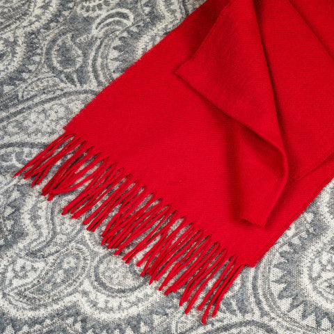 100% Merino wool Scarf - Red