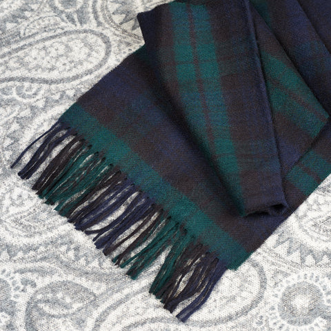 100% Merino wool Scarf - Black Watch