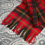 100% Merino wool Scarf - Dark Maple Leaf