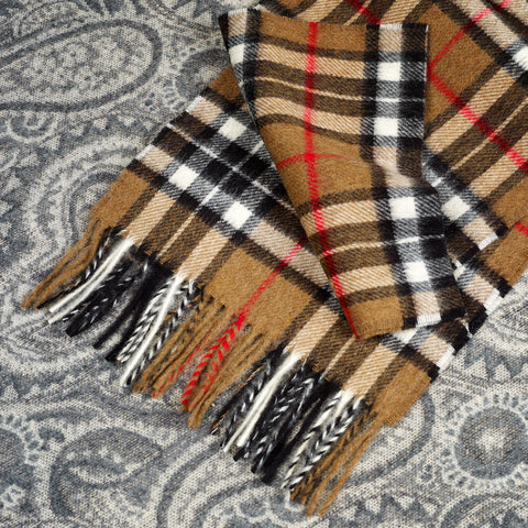 100% Merino wool Scarf - Camel Thompson