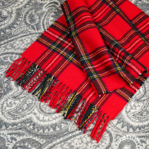 100% Merino wool Scarf - Royal Stewart