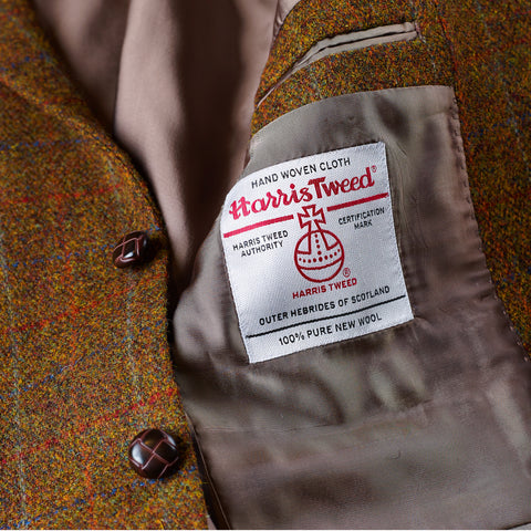 Harris Tweed Lightweight - Gold Checked