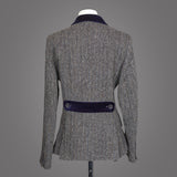 Harris Tweed Tara - Grey Herringbone