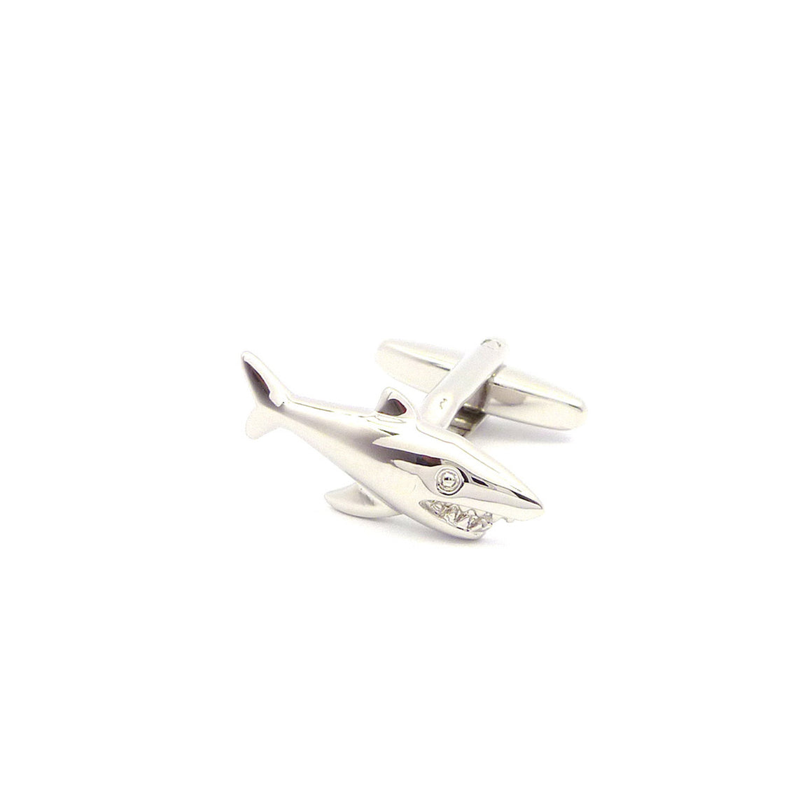 Wild Links - Silver Shark Cufflinks