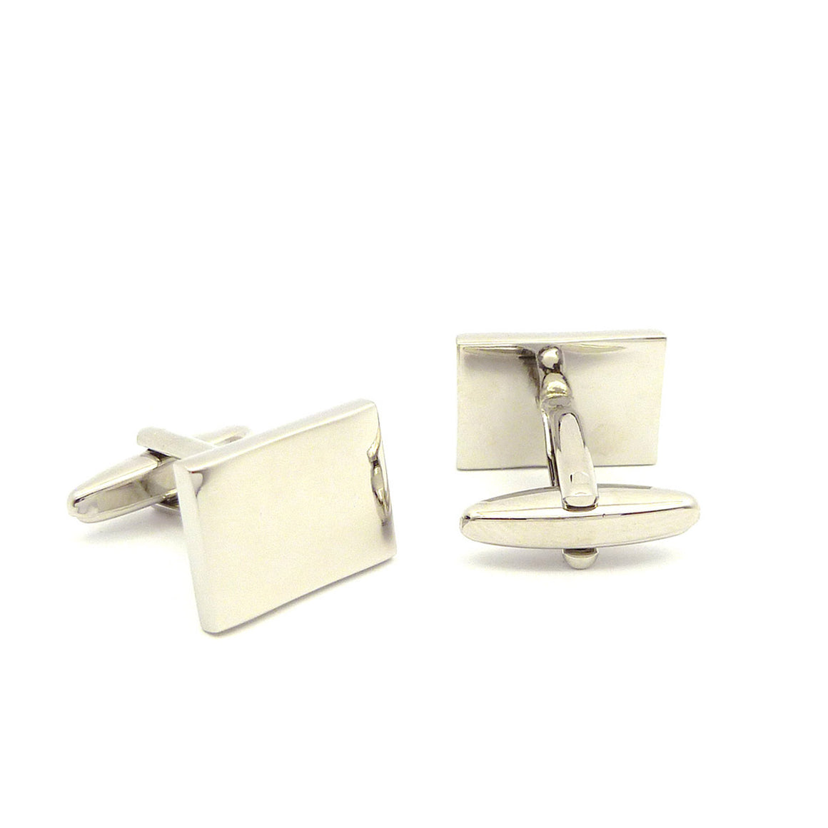 Wild Links - Silver Engravable Rectangle Cufflinks