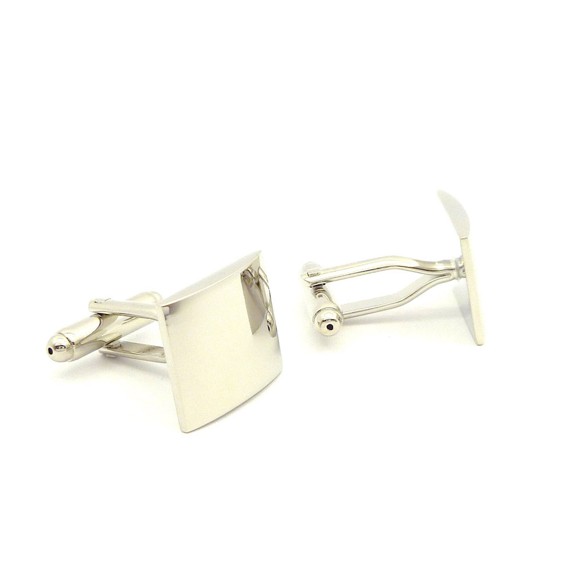 Wild Links - Silver Engravable Reflective Square Cufflinks