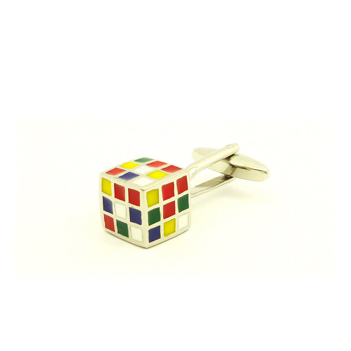 Wild Links - Silver Colourful Cube Cufflinks