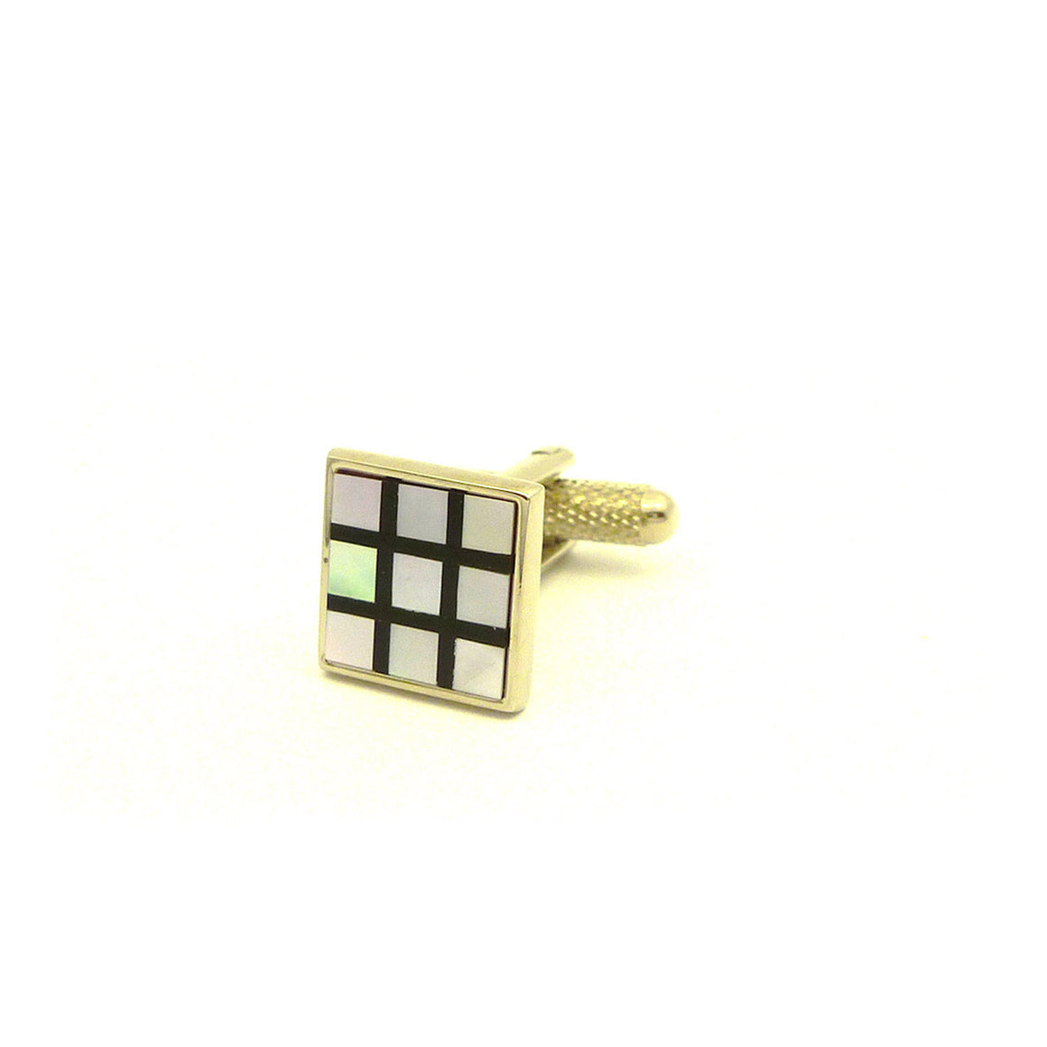 Wild Links - Silver Pearl Shell Squares Cufflinks