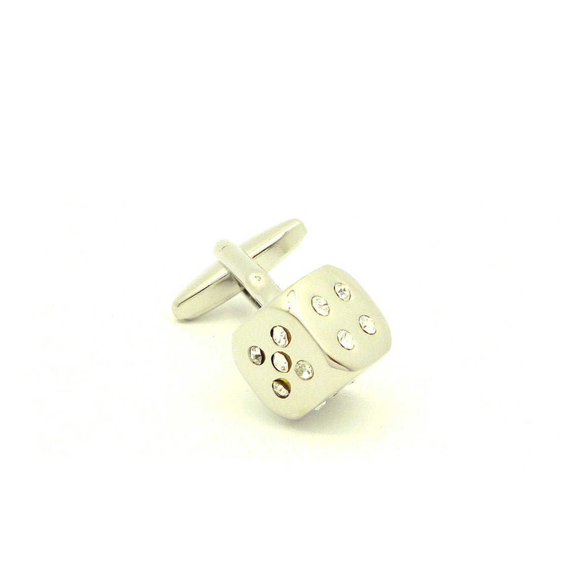 Wild Links - Silver Sparkling Dice Cufflinks
