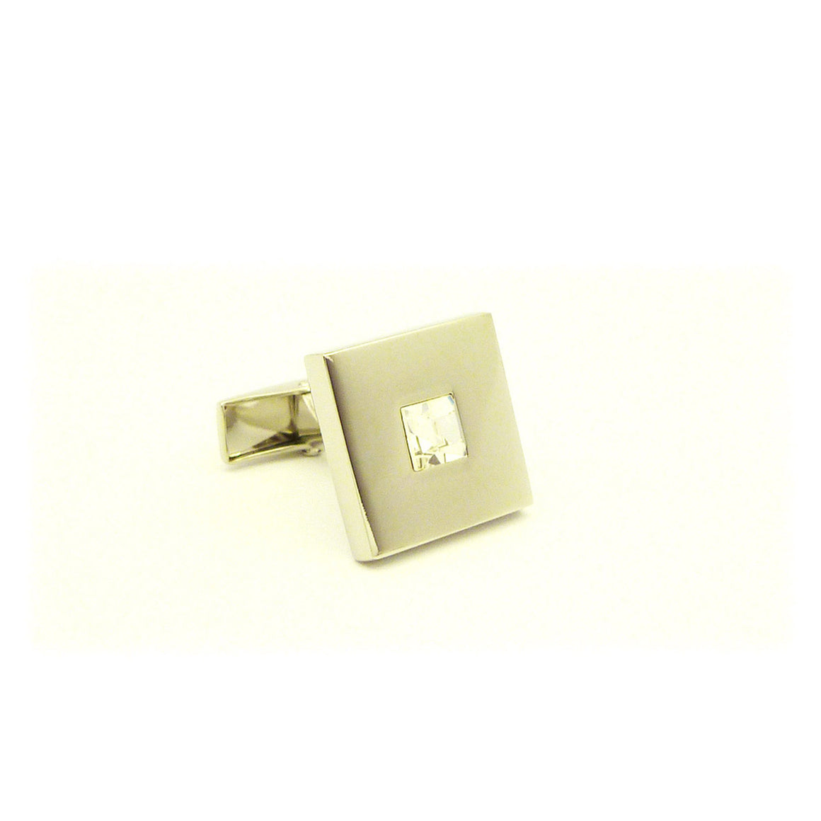 Wild Links - Silver Large Square Stone Cufflinks