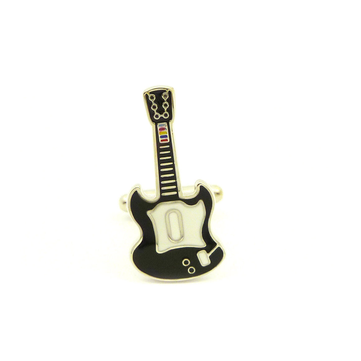 Wild Links - Silver Guitar Cufflinks