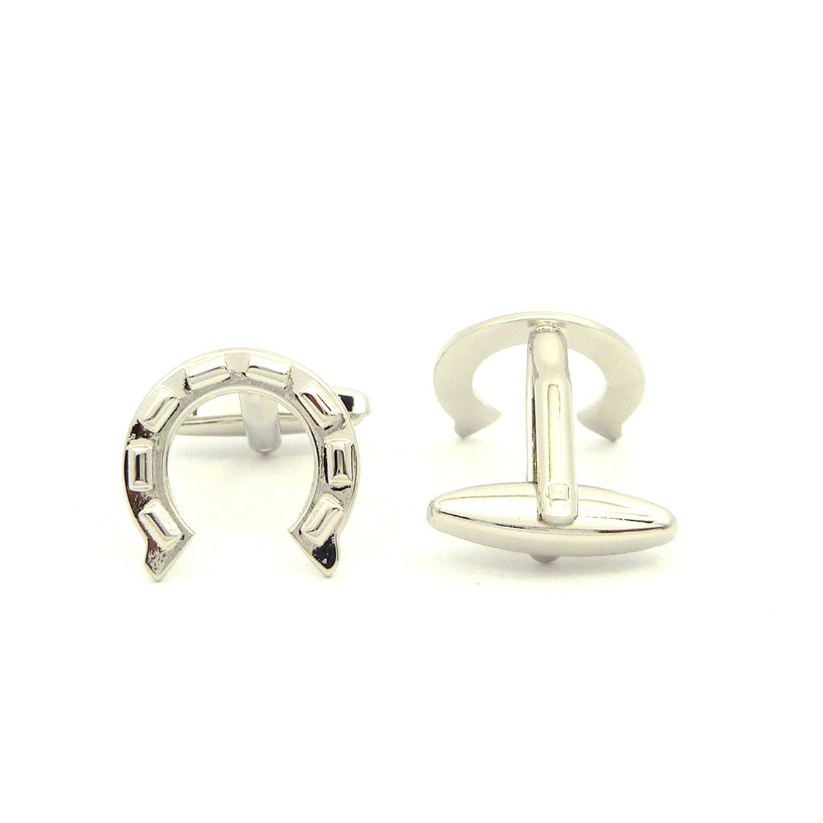 Wild Links - Silver Lucky Horseshoe Cufflinks