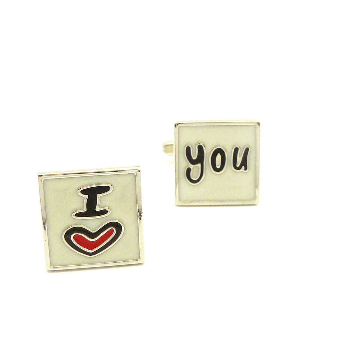 Wild Links - Silver I Love You Cufflinks