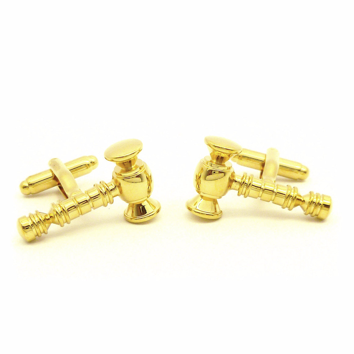Wild Links - Gold Gavel Cufflinks