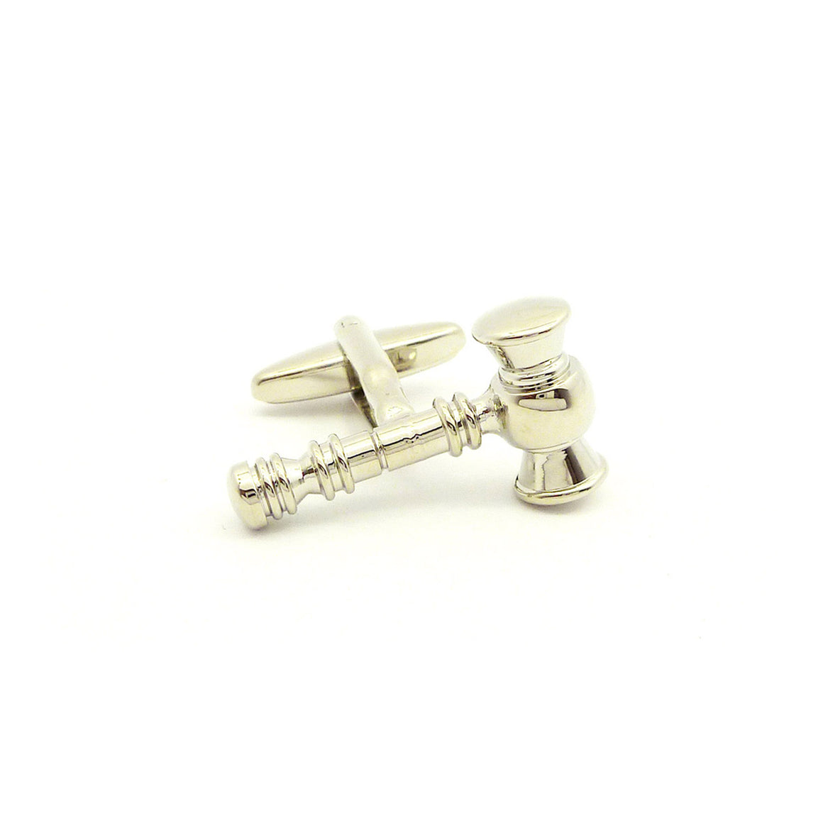 Wild Links - Silver Silver Gavel Cufflinks
