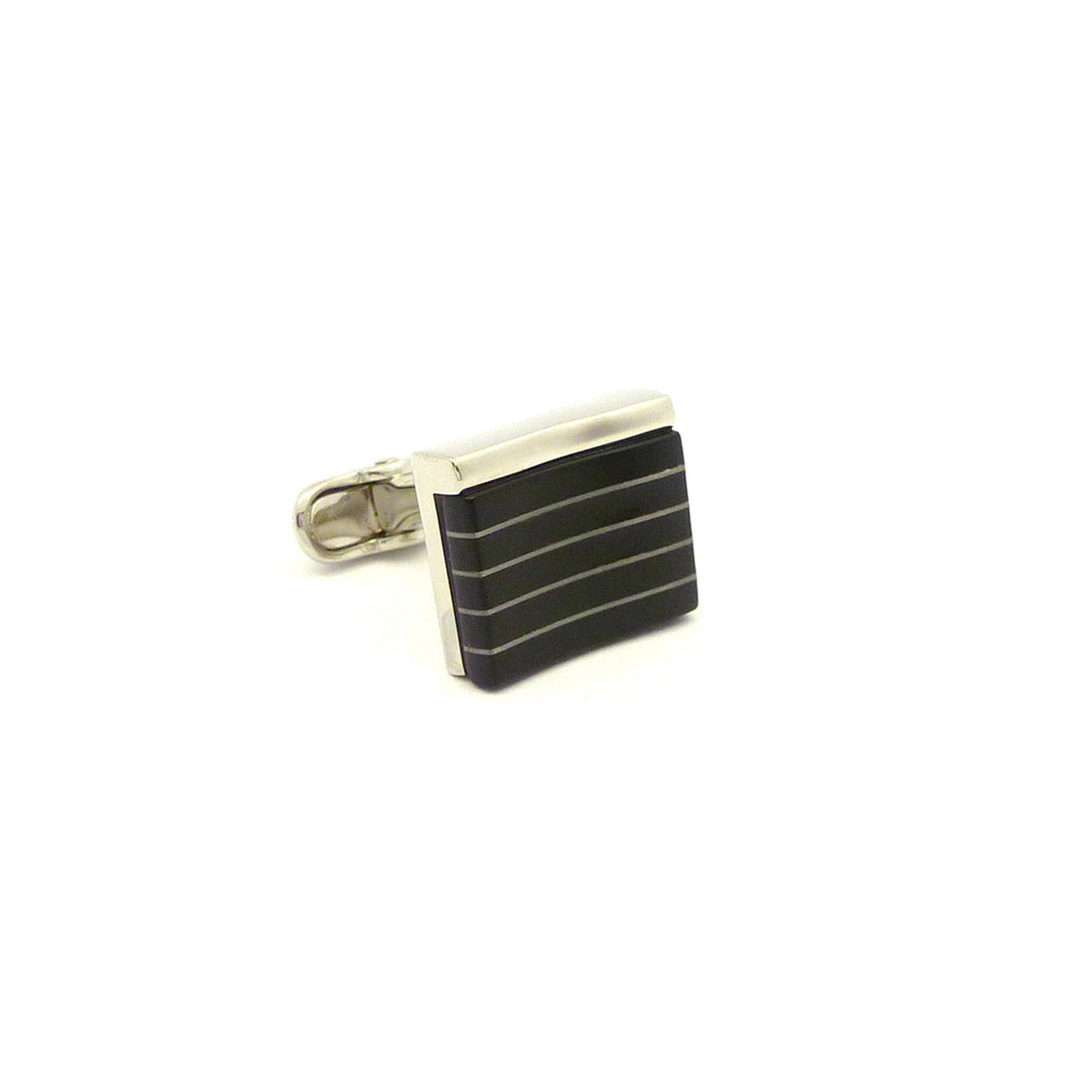 Wild Links - Silver Black Stripes Cufflinks