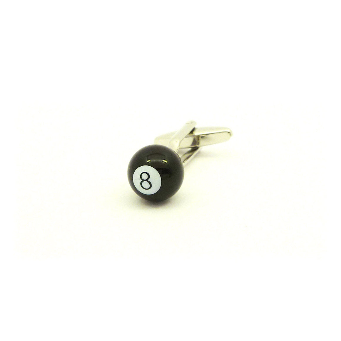 Wild Links - Silver Billiards 8 Ball Cufflinks