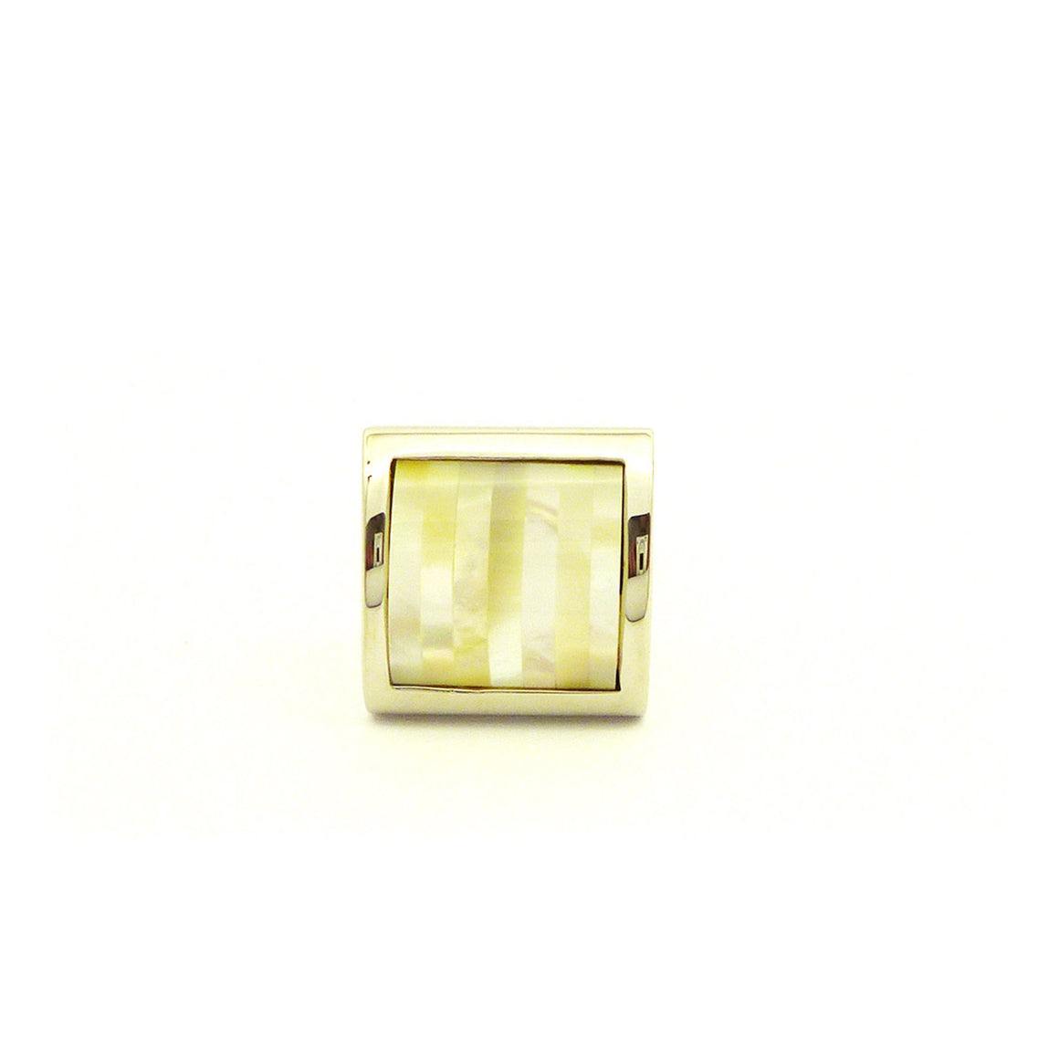 Wild Links - Silver Square Pearl Cufflinks