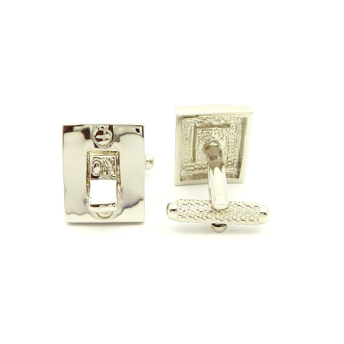 Wild Links - Silver Light Switch Cufflinks