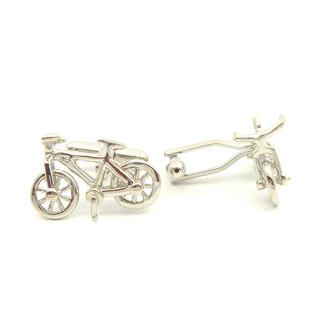 Wild Links - Silver Bicycle Cufflinks