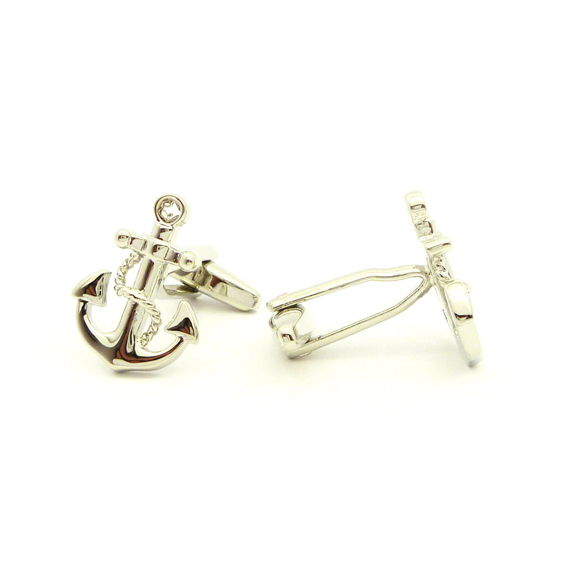 Wild Links - Silver Boat Anchor Cufflinks