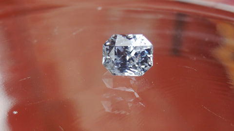 Natural Cushion White Sapphire 5.55ct (Unheated)