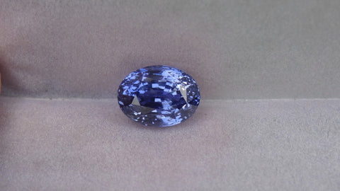 Natural Blue Oval Sapphire 8.03ct (Unheated)