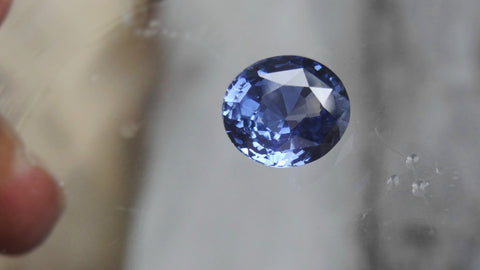 Natural Blue Oval Sapphire 6.30ct (Unheated)