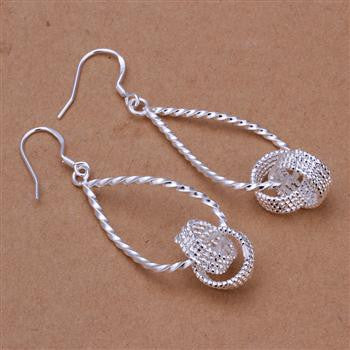 Infinity Silver Dangling earrings