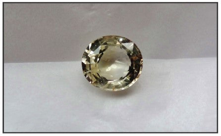 Natural Yellow Oval Sapphire 7.02ct (Unheated)