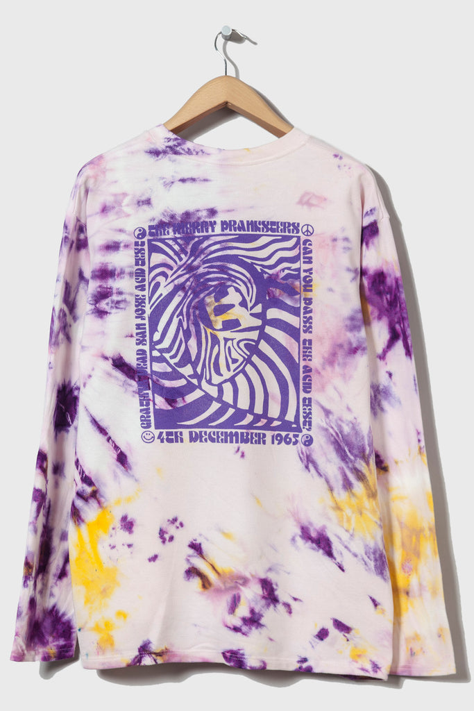 Acid Test M-5 Long Sleeve Piqué  (Tie Dyed #14 - extra large)