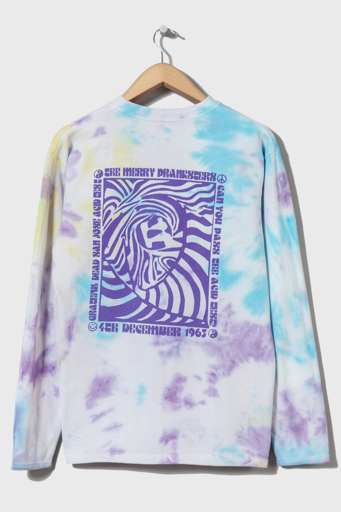 Acid Test M-5 Long Sleeve Piqué  (Tie Dyed #17 - medium)