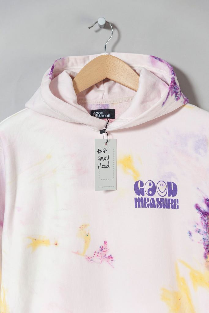 Acid Test M-20 Heavyweight Hooded Sweatshirt (Tie Dyed #7 - small)
