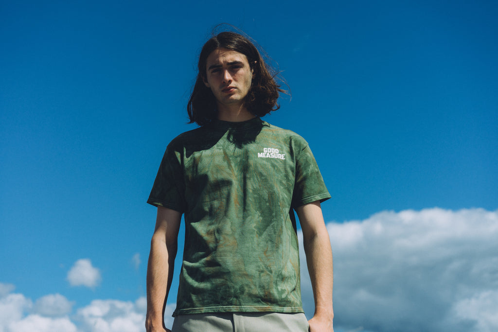 M-14 Full Cotton Heavyweight T-Shirt - hand dyed camouflage