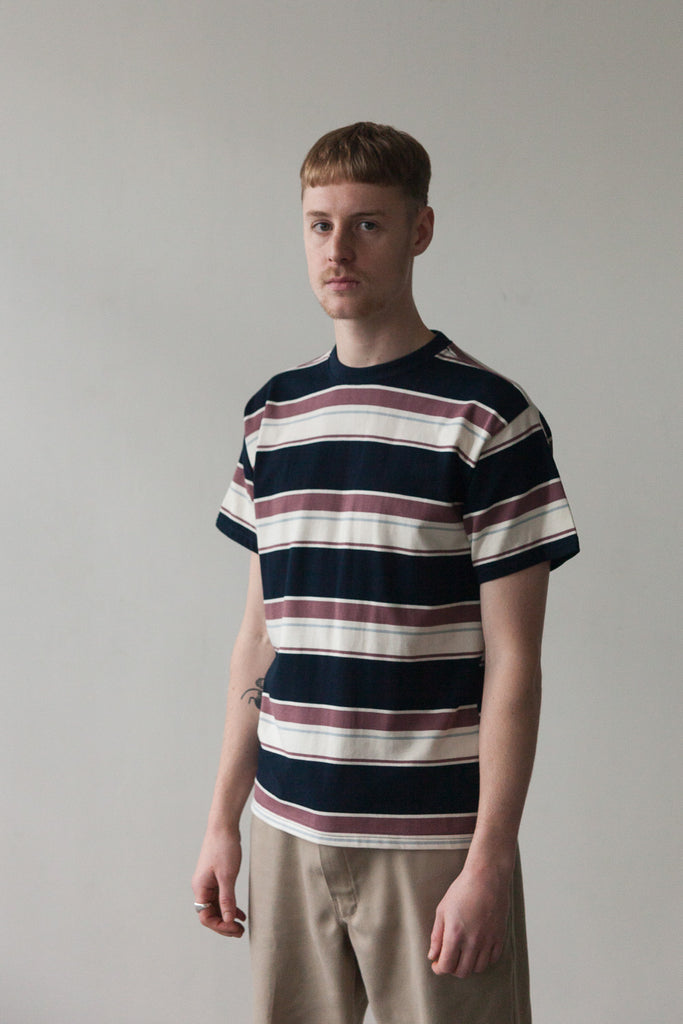 M-4 Multi Stripe T-Shirt (Claret / Navy / Sky)
