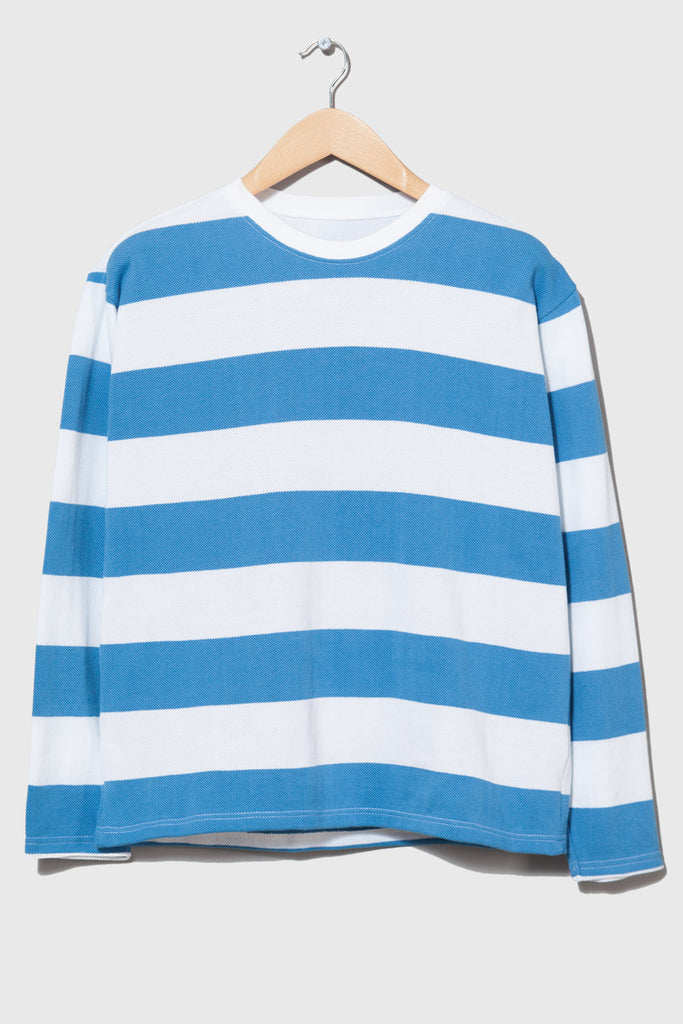 M-5 Long Sleeve Piqué Repeat Stripe T-Shirt (sky/white)