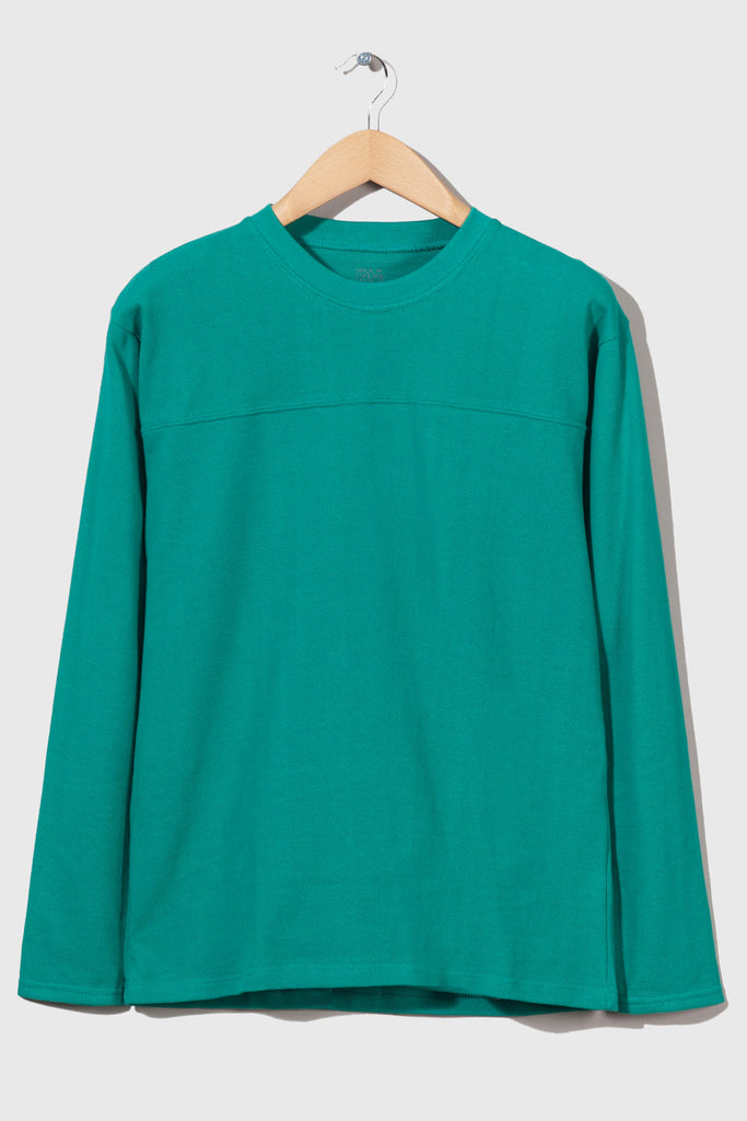 M-5 Gem Long Sleeve Piqué Football Top (Emerald)