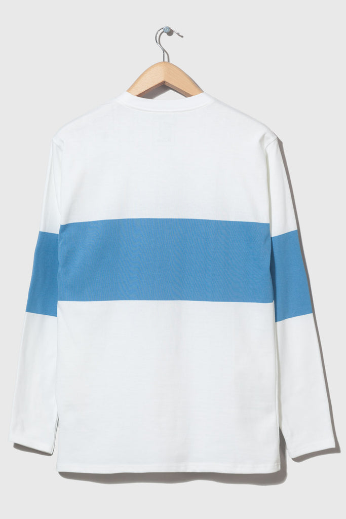 M-5 Long Sleeve Chest Stripe (white/sapphire)