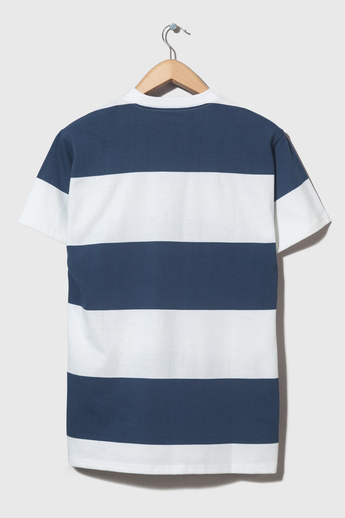 M-4  Stripe Heavyweight T-Shirt (navy/white)