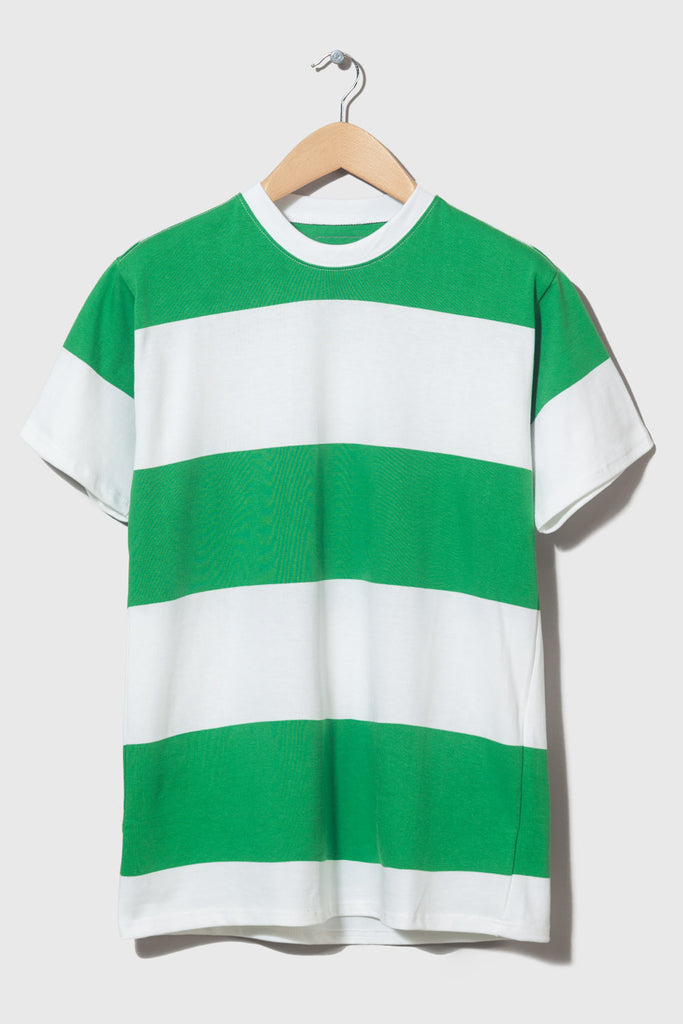 M-4  Stripe Heavyweight T-Shirt (green/white)