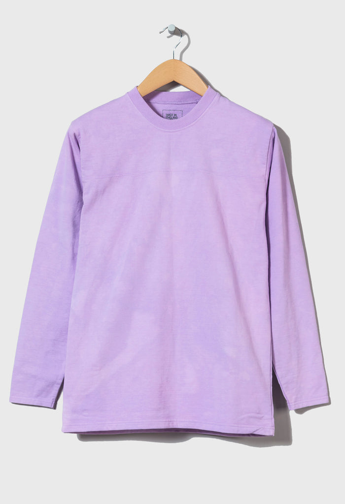 M-5 HEAVYWEIGHT LONG SLEEVE FOOTBALL TOP - (Lunar Lilac)