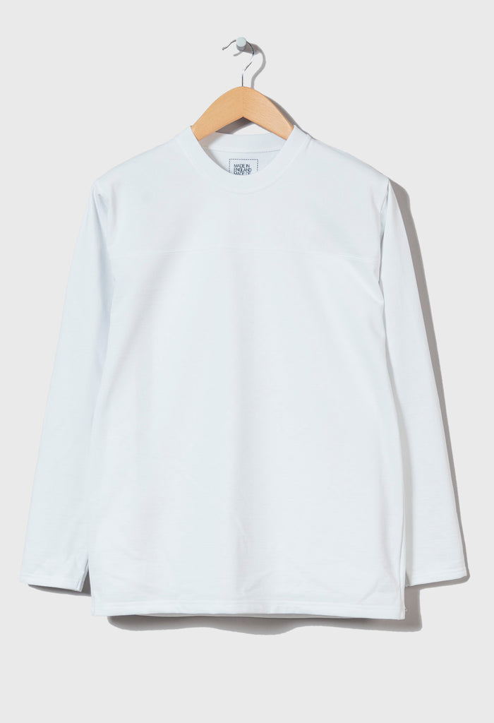 M-5 HEAVYWEIGHT LONG SLEEVE FOTBALL TOP - (Pluto White)