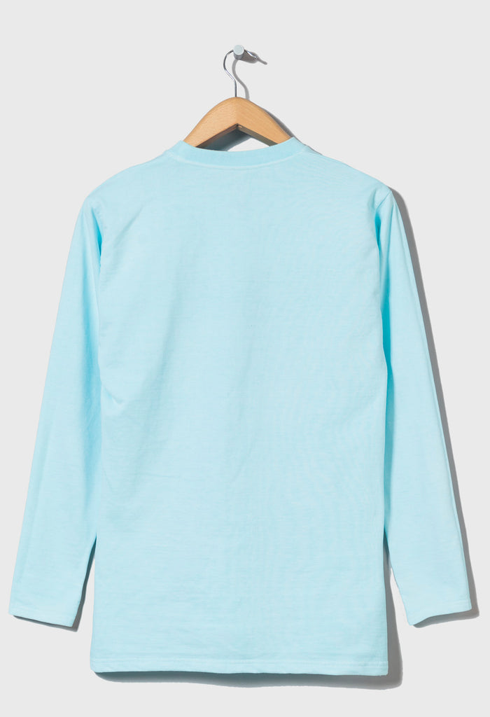 M-5 HEAVYWEIGHT LONG SLEEVE FOOTBALL TOP - (Neptune Blue)